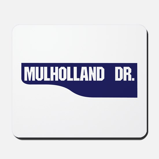Mulholland Drive, Old-Style Street Sign, Mousepad