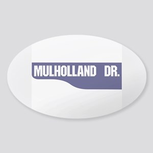 Mulholland Drive, Old-Style Street Sticker (Oval)