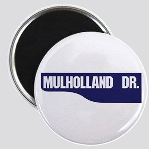 Mulholland Drive, Old-Style Street Sign, Lo Magnet