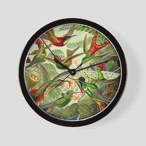 Vintage Hummingbirds Decorative Wall Clock