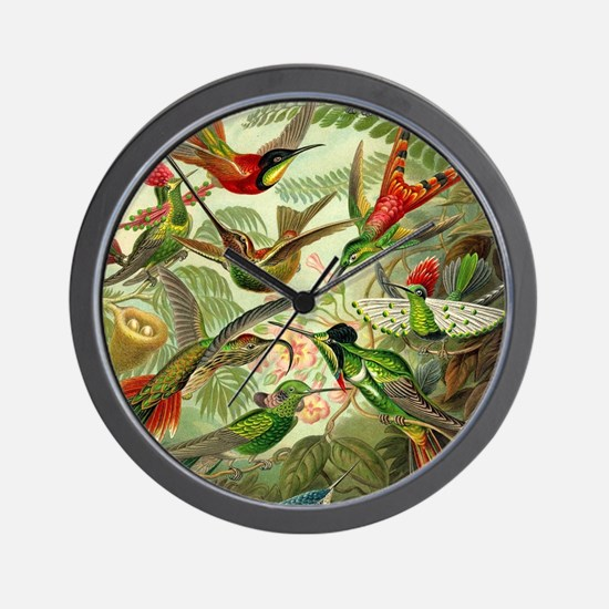 Vintage Hummingbirds Decorative Wall Clock