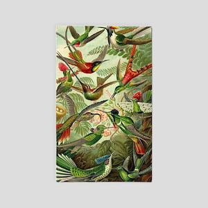 Vintage Hummingbirds Decorative Area Rug