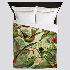 Vintage Hummingbirds Decorative Queen Duvet
