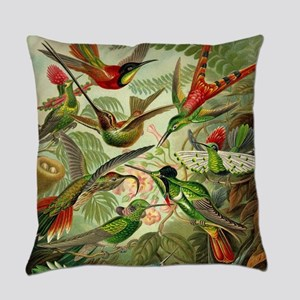 Vintage Hummingbirds Decorative Everyday Pillow