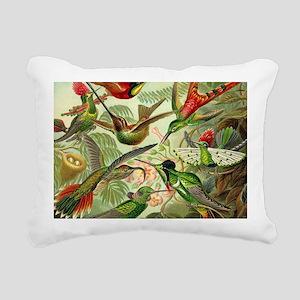 Vintage Hummingbirds Dec Rectangular Canvas Pillow
