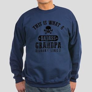 Badass Grandpa Looks Like Sweatshirt