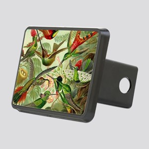 Vintage Hummingbirds Decor Rectangular Hitch Cover