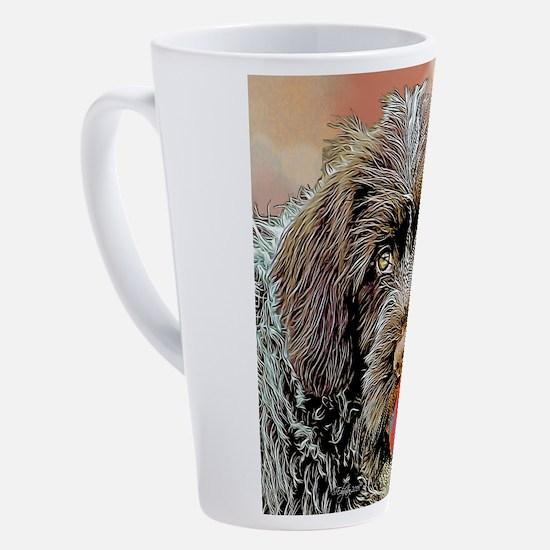 Griffon with a ball 17 oz Latte Mug