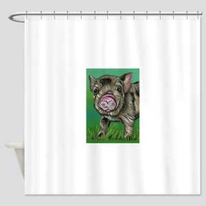Spotted Micro Pig Shower Curtain