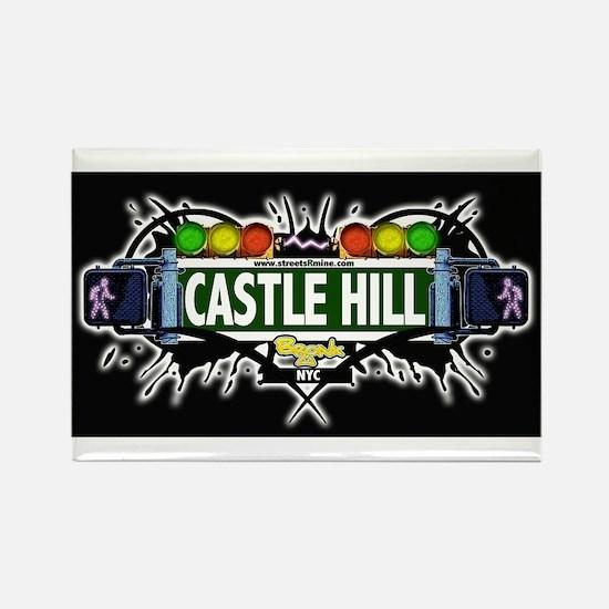 castlehill (Black) Rectangle Magnet