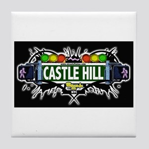 castlehill (Black) Tile Coaster