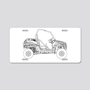 Side X Side Drawing Aluminum License Plate