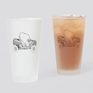 Side X Side Drawing Drinking Glass