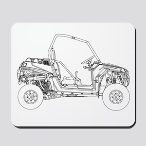 Side X Side Drawing Mousepad