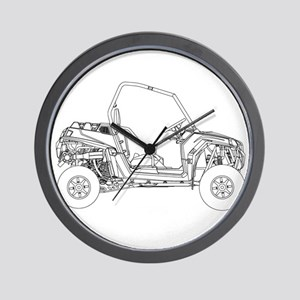 Side X Side Drawing Wall Clock