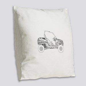 Side X Side Drawing Burlap Throw Pillow