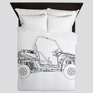 Side X Side Drawing Queen Duvet