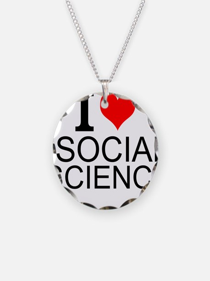 I Love Social Sciences Necklace