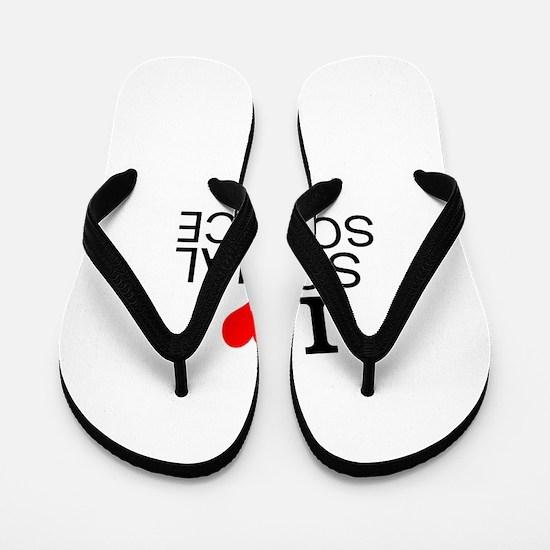 I Love Social Sciences Flip Flops