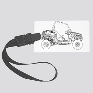 Side X Side Drawing Luggage Tag