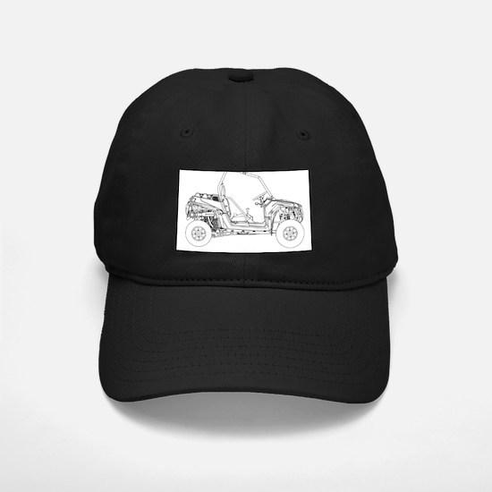 Side X Side Drawing Baseball Hat