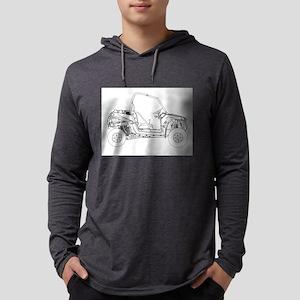 Side X Side Drawing Long Sleeve T-Shirt