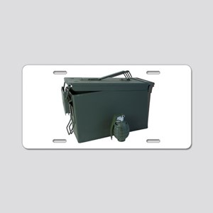 ammo box drab olive hand grenade Aluminum License