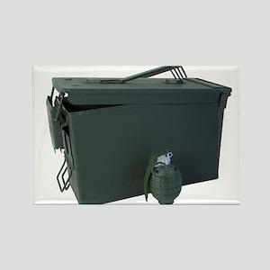 ammo box drab olive hand grenade Magnets
