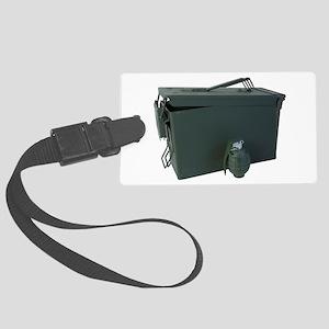 ammo box drab olive hand grenade Luggage Tag