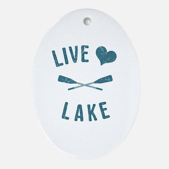 Cute Live love Oval Ornament