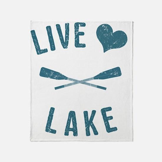 Cute Lake Throw Blanket
