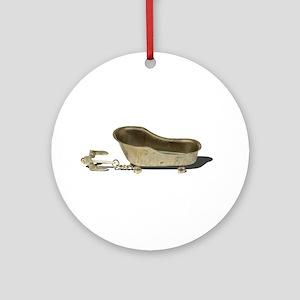 Vintage Bathtub Anchor Round Ornament