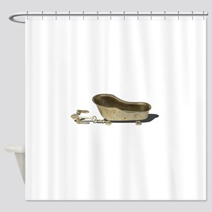 Vintage Bathtub Anchor Shower Curtain