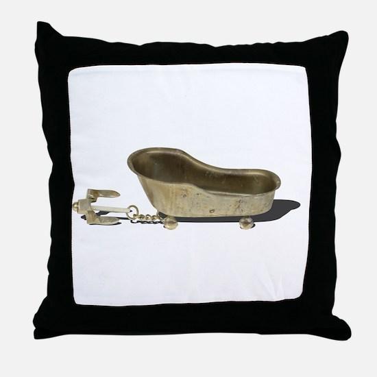 Vintage Bathtub Anchor Throw Pillow