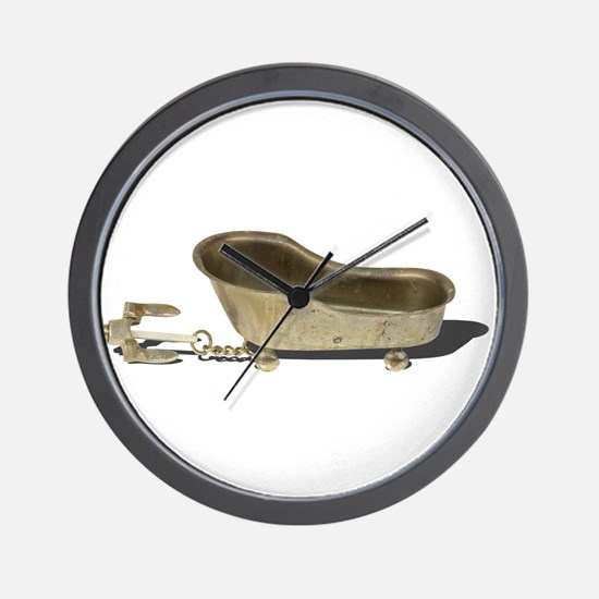 Vintage Bathtub Anchor Wall Clock