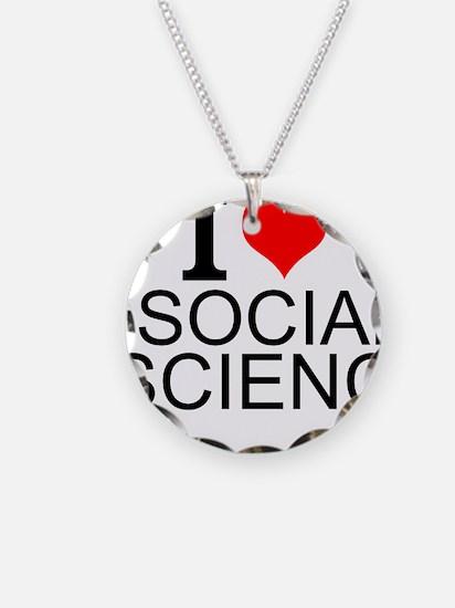 I Love Social Science Necklace
