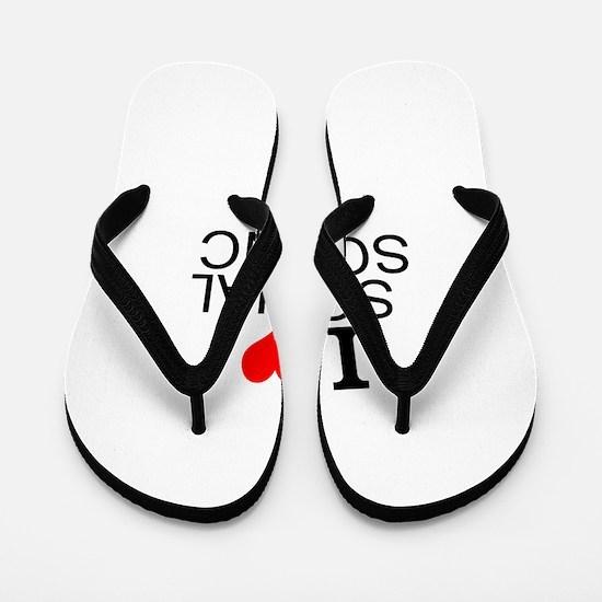 I Love Social Science Flip Flops