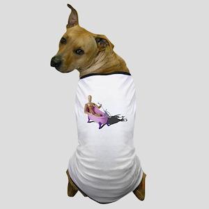 Bathing in Pink Bathtub Dog T-Shirt