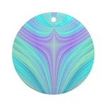 Multi-color Fractal Round Ornament