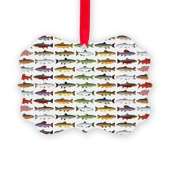 14 Trout and Salmon Pattern cp Ornament