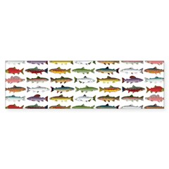 14 Trout and Salmon Pattern cp Bumper Bumper Sticker
