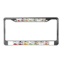 14 Trout and Salmon Pattern cp License Plate Frame