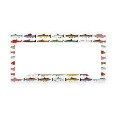 14 Trout and Salmon Pattern cp License Plate Holde