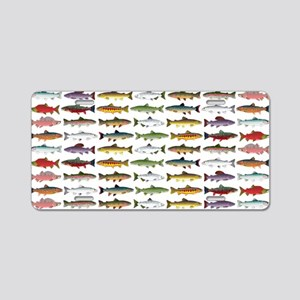14 Trout and Salmon Pattern cp Aluminum License Pl