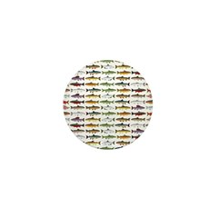 14 Trout and Salmon Pattern cp Mini Button (100 pa