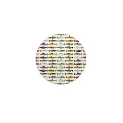 14 Trout and Salmon Pattern cp Mini Button (10 pac