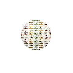 14 Trout and Salmon Pattern cp Mini Button