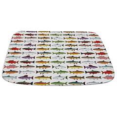 14 Trout and Salmon Pattern cp Bathmat