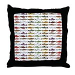 14 Trout and Salmon Pattern cp Throw Pillow