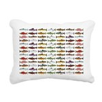 14 Trout and Salmon Pattern cp Rectangular Canvas